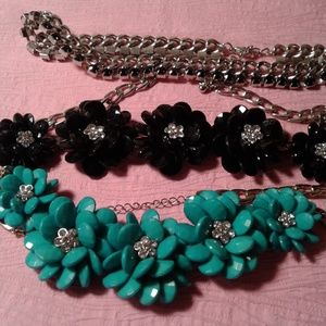 Jewelry - Lot of 3 Assorted Choker Type Fashion Jewelry